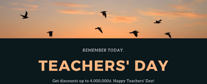 Happy Teachers' Day 20/11 – Discount up to 4,000,000đ