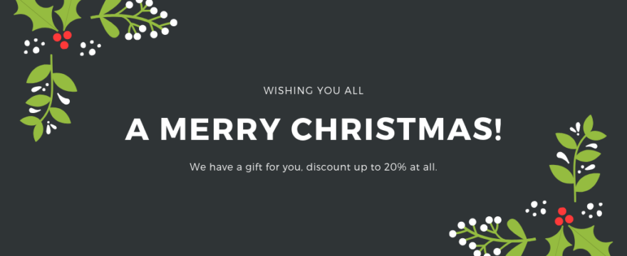 Up to 20% off – We wish you a Merry Christmas !